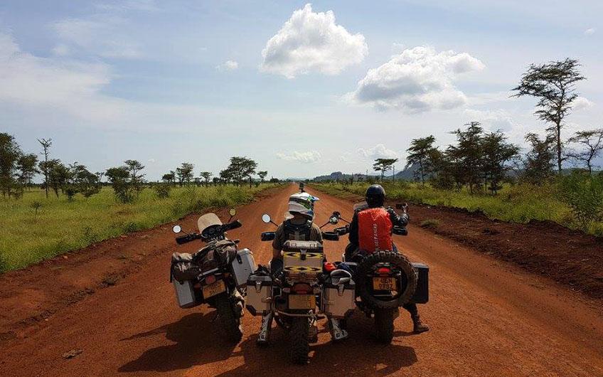 Offroad motorsykkel tur i Afrika