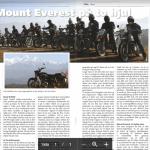 artikkel om Nepal turen i NMCUs medlemsblad MC bladet